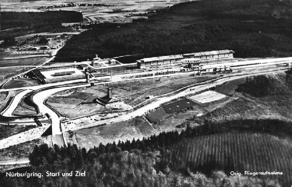 Start und Ziel des Nürburgrings auf einem Luftbild vom 1.1.1933