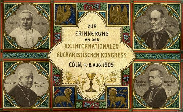 Postkarte zur Erinnerung an den Eucharistischen Kongress