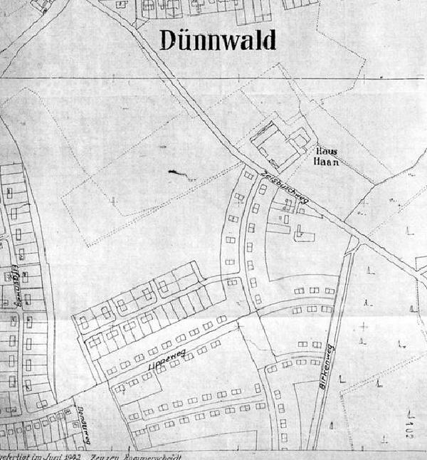 Lageplan Siedlung Neue Heimat, 1942