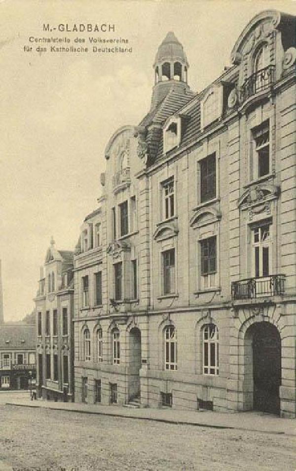Volksvereinshaus in Mönchengladbach, um 1900