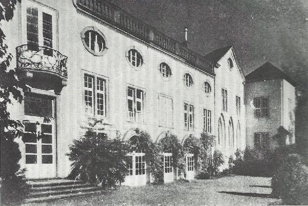 Gartenfront des von der Leyenschen Hofes in Koblenz, der Sitz des Generalkommando des VIII. Armee-Korps war