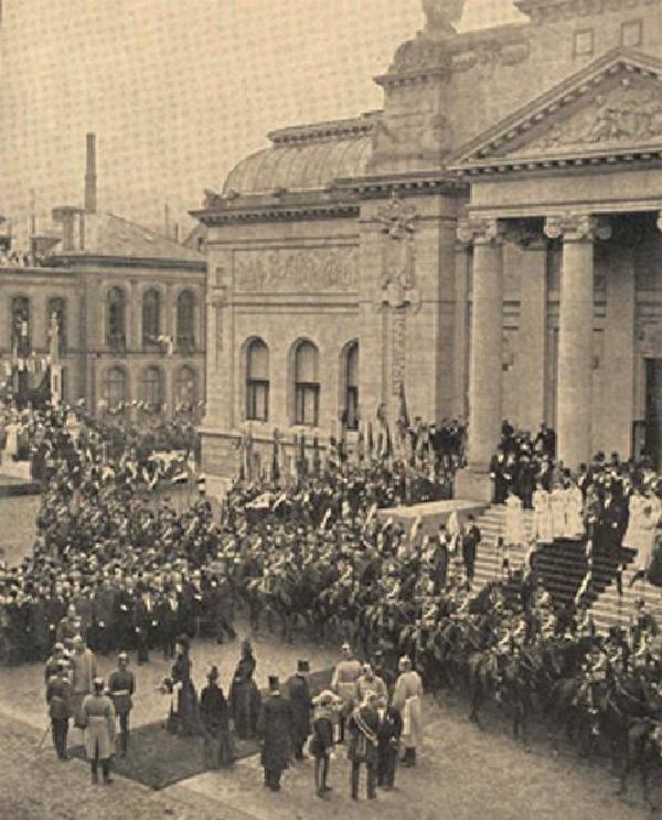 Die Einweihung der Barmer 'Ruhmeshalle' im Jahre 1900, Heute: 'Haus der Jugend'