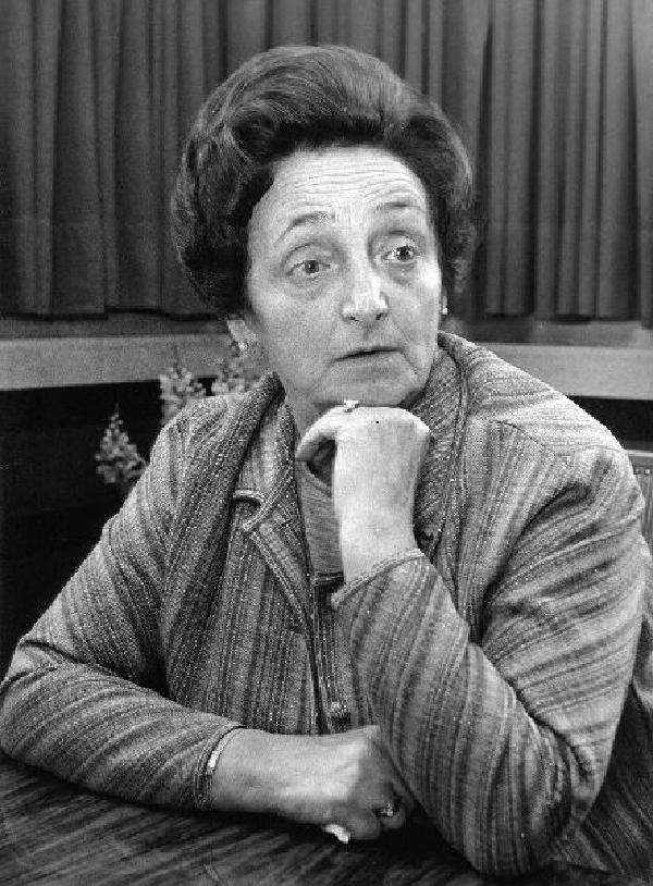 Luise Albertz im Rathaus Oberhausen, Ende der 1960er Jahre