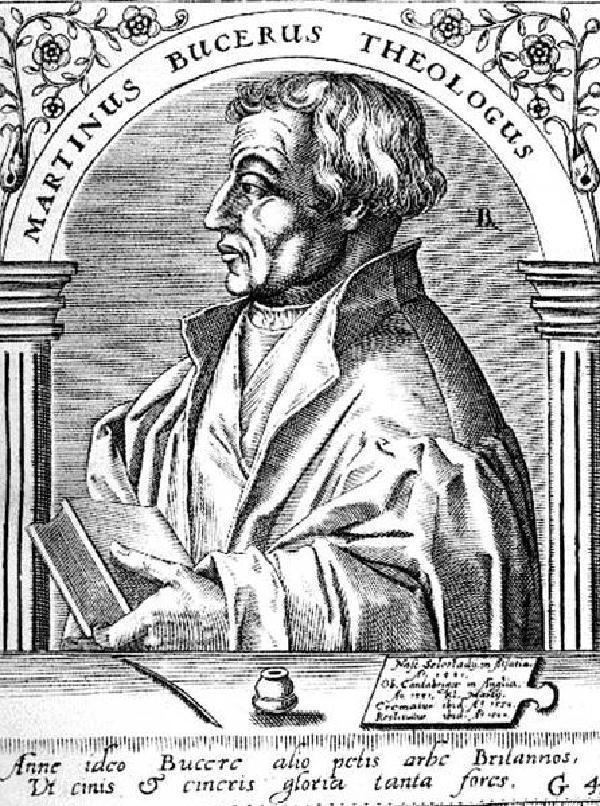 Martin Bucer, Porträt, Kupferstich von Jean Jacques Boissard (1528-1602), 1560