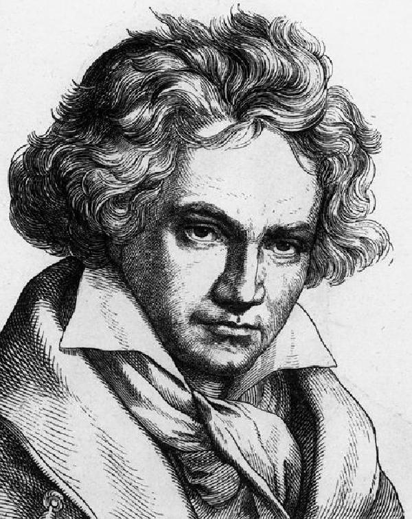 Ludwig van Beethoven, Porträt, Holzschnitt