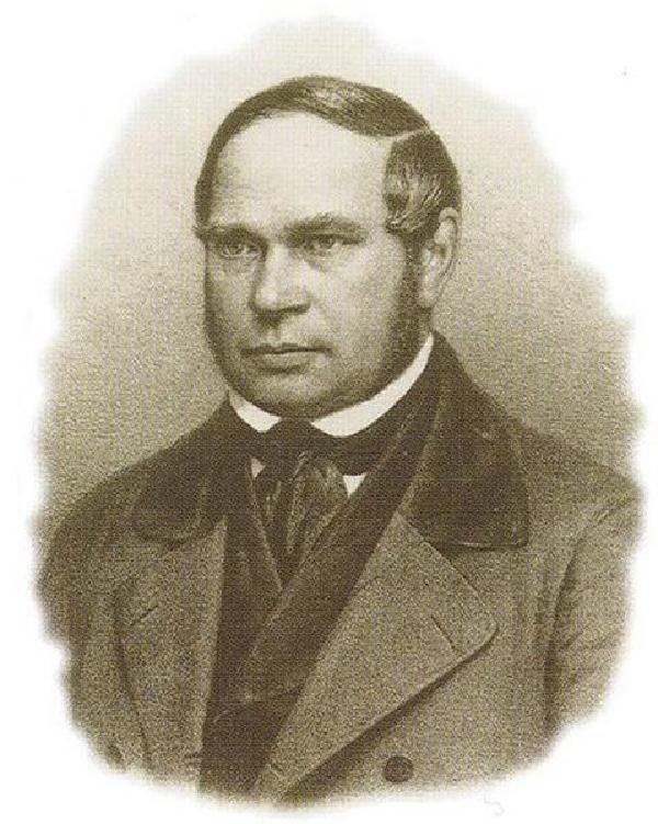 Karl Baedeker, Porträt, Lithographie von Breidenbach und Comp., Düsseldorf, um 1850