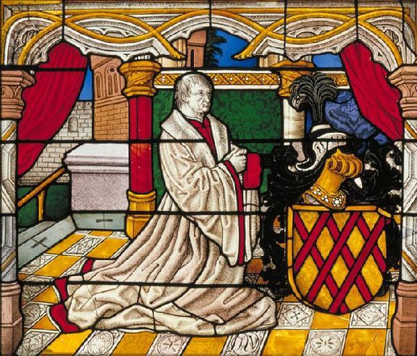 Philipp II. von Daun, Abbildung auf dem Passions-Fenster des Kölner Doms, 1508