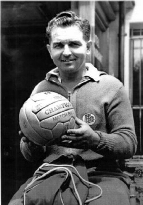 Weltmeister Toni Turek, Porträtfoto, 1954