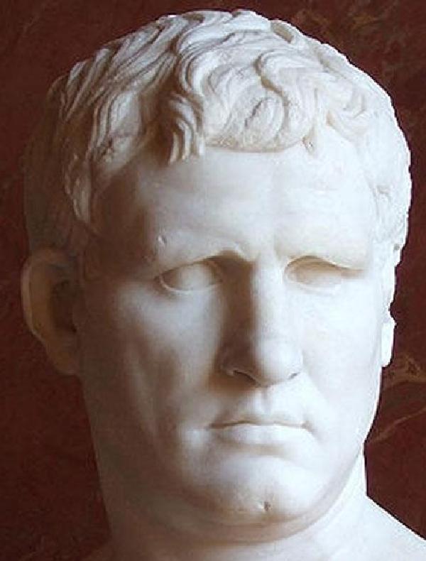Marmorbüste des Marcus Vipsanius Agrippa, Original im Musée du Louvre, Paris
