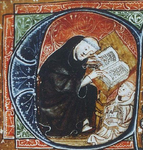 Caesarius von Heisterbach als Novizenmeister im 'Dialogus miraculorum' (1219-1223), Düsseldorfer Codex