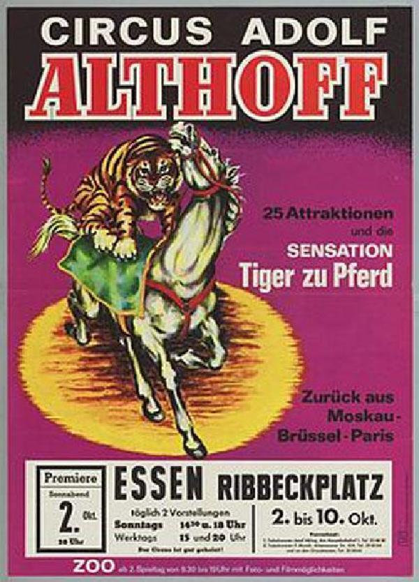 Circus Adolf Althoff, Plakat von 1965