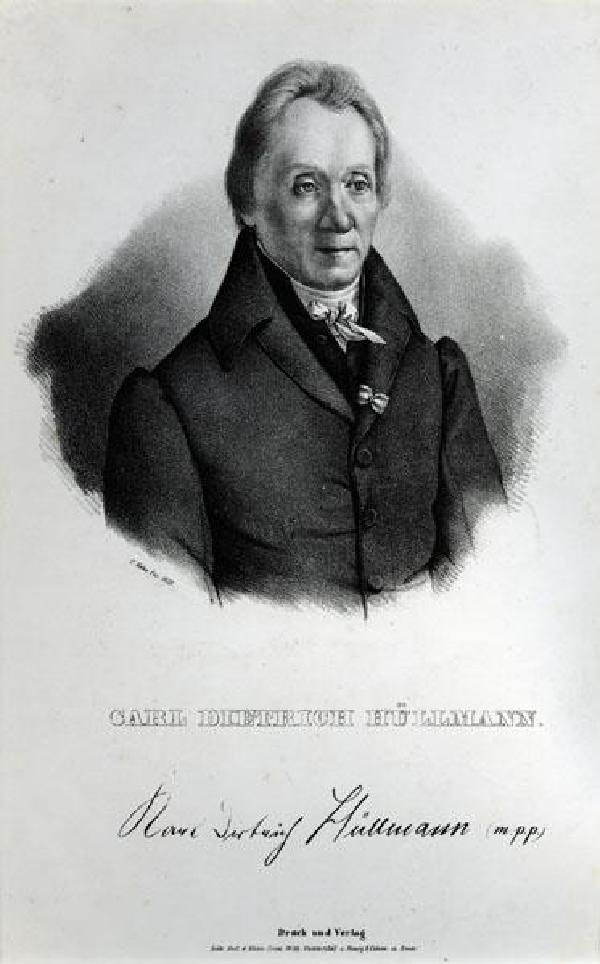 Karl Dietrich Hüllmann, Porträt, Lithografie von Christian Hohe (1798-1868), 1835