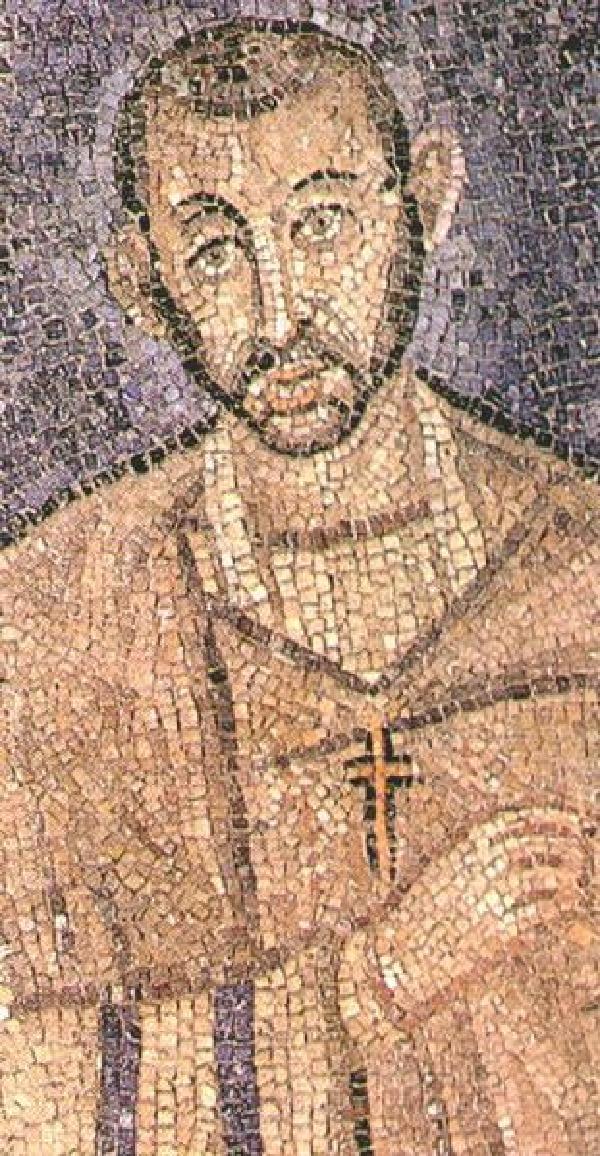 Ambrosius, spätantikes Mosaik in der Kirche St. Ambrogio, Mailand