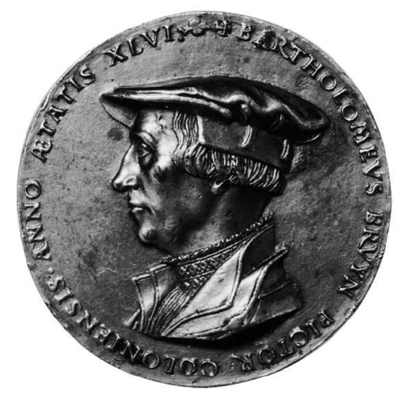 Medaille mit dem Profilbildnis Bartholomäus Bruyns des Älteren von Friedrich Hagenauer