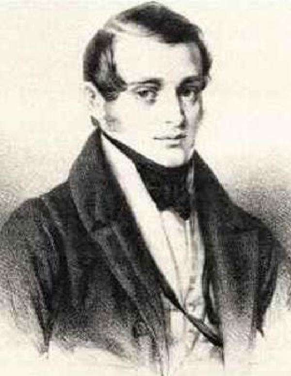 Norbert Burgmüller, Kohlezeichnung von Johann Baptist Sonderland (1805-1878), um 1832